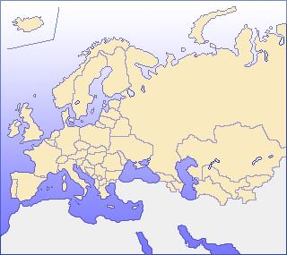 欧州の地図