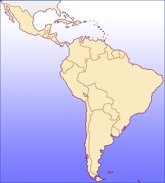 中南米の地図