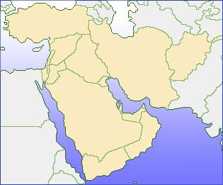 中東の地図
