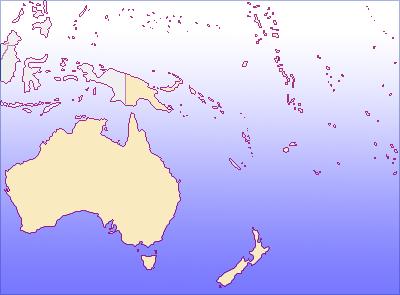 大洋州の地図