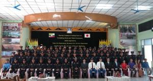 研修の開講式(ミャンマー消防局)