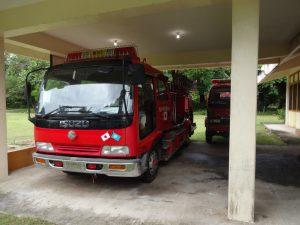 埼玉県吉川松伏消防組合から寄贈された消防車です。