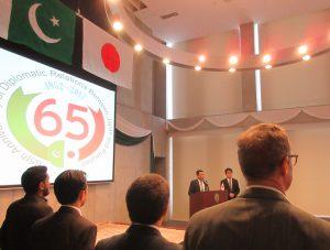 日本・パキスタン外交関係樹立65周年記念写真展(大使館ホールにて)