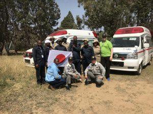 寄贈を受ける病院から職員12名が参加